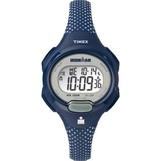 Timex Women's TW5M16700 Ironman Essential 10 Blue/White Dots Resin Strap Watch - Blue