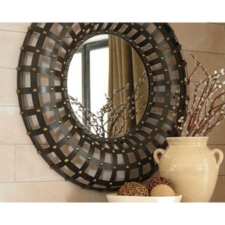 Ogier Accent Mirror - Brown/Gold