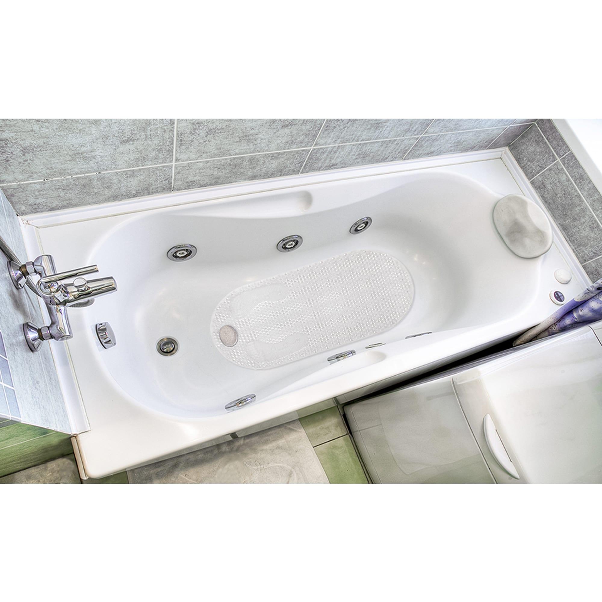 White Bath Popular Bath Bubble Tub Mat Hair Catcher ...
