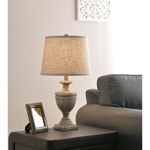 """Lucille 23"""" Accent Lamp - Weathered Wood Finish"""