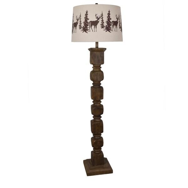 Hunt Walnut 62-inch Floor Lamp