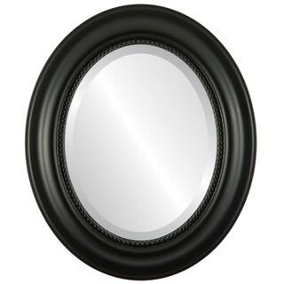 Heritage Framed Oval Mirror in Matte Black