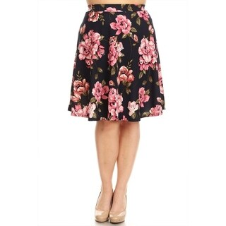 Women's Plus Size Floral Pattern Skirt