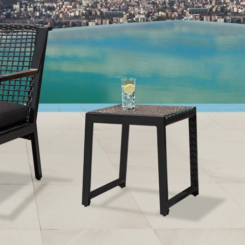Calvin End Table Set of Two Black by Real Flame - 20L x 19.357W x 20H