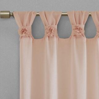 Madison Park Florah Tab Top Sheer Single Curtain Panel