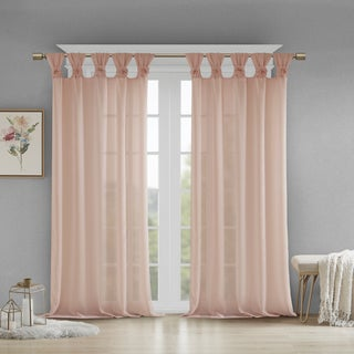 Madison Park Florah Tab Top Sheer Single Curtain Panel
