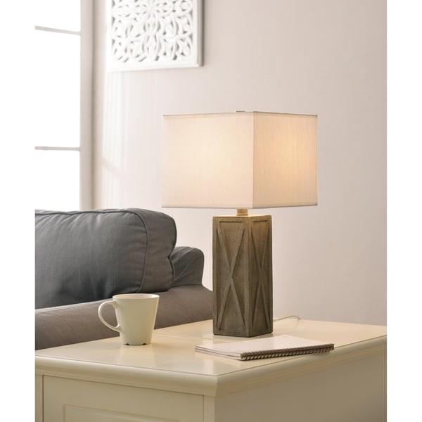 """Design Craft Memphis 20"""" Accent Lamp - Driftwood"""
