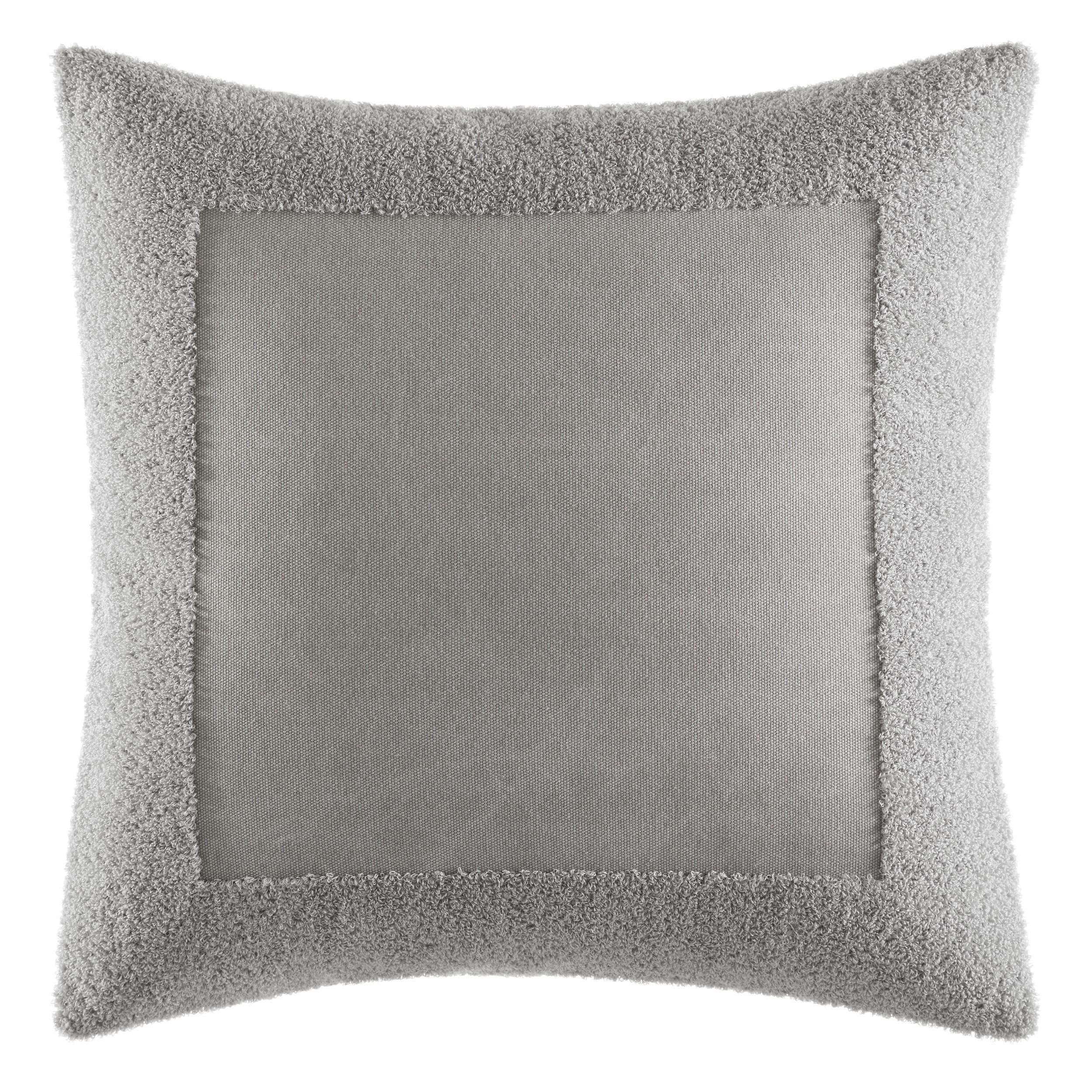 Vera Wang Transparent Leaves Terry Border Throw Pillow (18X18)