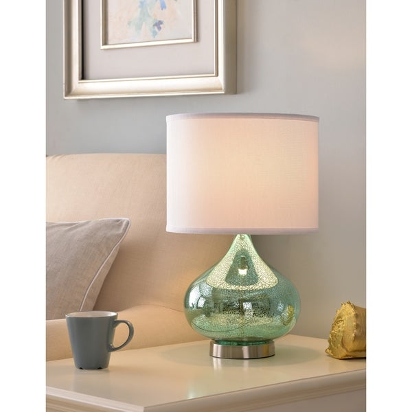 "Design Craft Tristan 18.5"" Accent Lamp - Green Antique Mercury Glass"