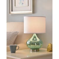 "Tristan 18.5"" Accent Lamp - Green Antique Mercury Glass"