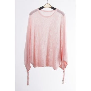 Fashion Diva SofT Lightweight Sleeve Loose Pullover Knit Sweater
