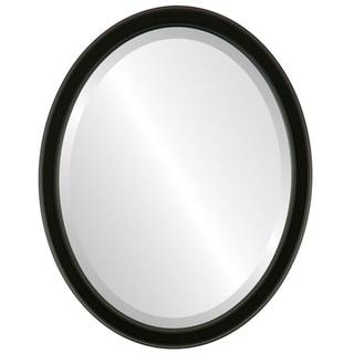 Toronto Framed Oval Mirror in Matte Black