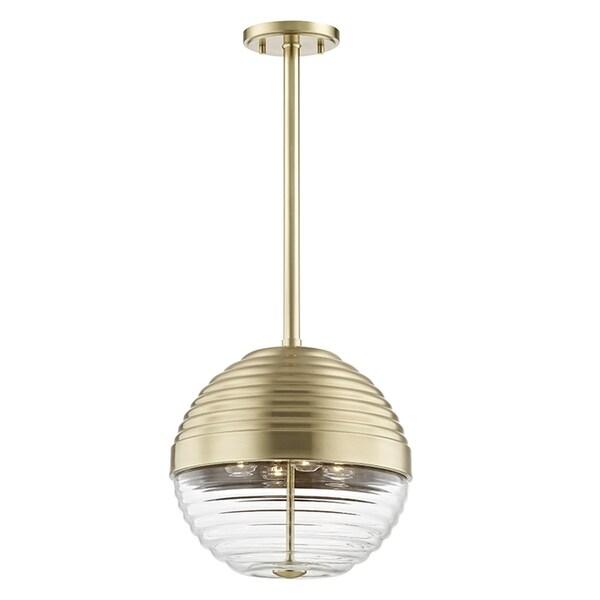 Hudson Valley Easton 4-light Aged Brass Large Pendant