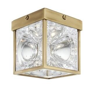 Hudson Valley Calvin 1-light Aged Brass LED Flush Mount