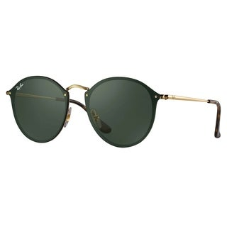 Ray-Ban RB3574N Blaze Round Sunglasses Gold/ Green Classic 59mm - Black