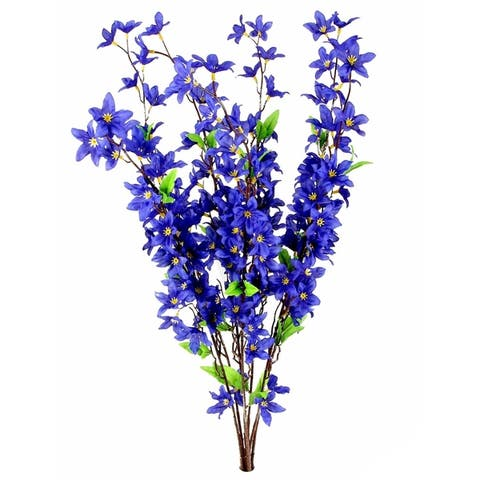 7 Stems Artificial Star Flower Bush for Home Office Decoration