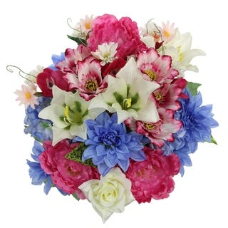 36 Stems faux Peony Rose Lily Dahlia Mixed Flower Bush