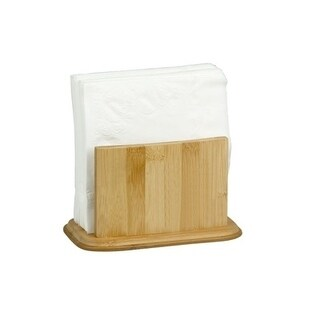 Home Basics Natural Bamboo Napkin Holder