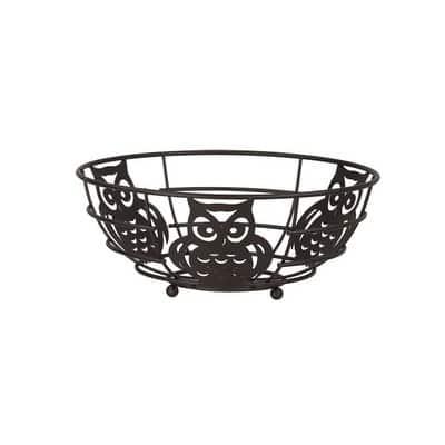 Home Basics Bronze Owl Fruit Bowl