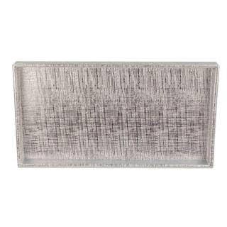 Home Basics Silver Metallic Weave Vanity Tray