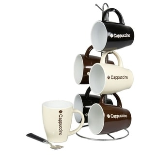 Link to Home Basics 6-piece 15-inch Mug Set with Stand Similar Items in Dinnerware