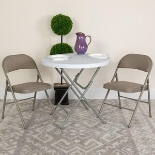 HERCULES Series Double Braced Vinyl Folding Chair