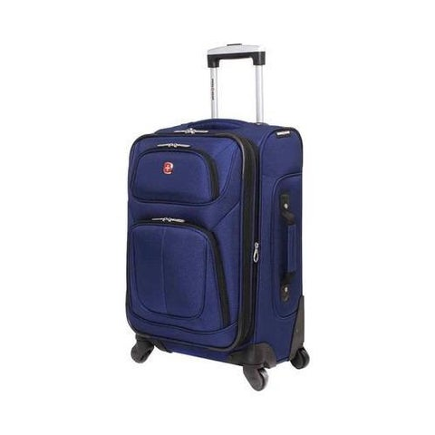 SwissGear Blue 21- inch Carry On Sofside Spinner Suitcase