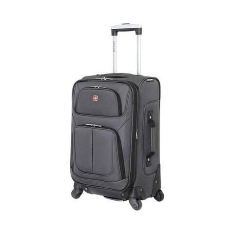 SwissGear Dark Grey 21- inch Carry On Sofside Spinner Suitcase