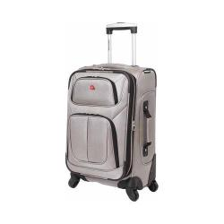 SwissGear Pewter 21- inch Carry On Sofside Spinner Suitcase