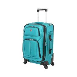 SwissGear Teal 21- inch Carry On Sofside Spinner Suitcase