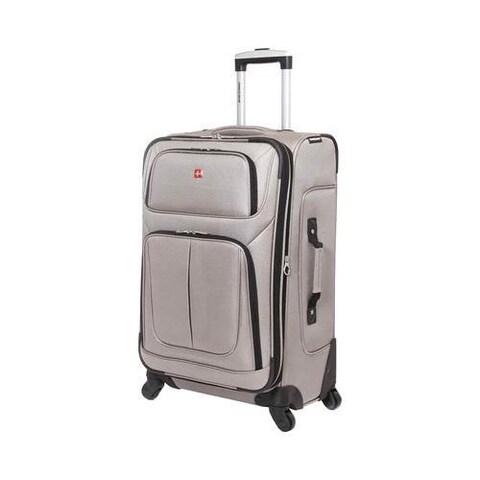 SwissGear Pewter 25- inch Lightweight Sofside Spinner Suitcase