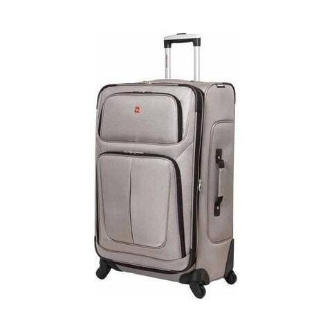 SwissGear Pewter 29- inch Lightweight Sofside Spinner Suitcase