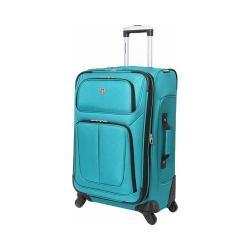 SwissGear Teal 25- inch Lightweight Sofside Spinner Suitcase