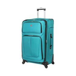 SwissGear Teal 29- inch Lightweight Sofside Spinner Suitcase