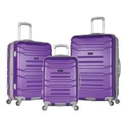 Olympia Monarch 3-Piece Expandable Hardcase Spinner Set Purple