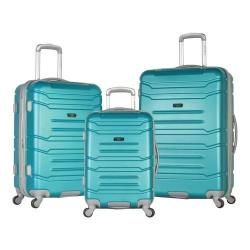 Olympia Monarch 3-Piece Expandable Hardcase Spinner Set Teal
