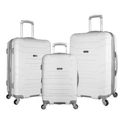 Olympia Monarch 3-Piece Expandable Hardcase Spinner Set White