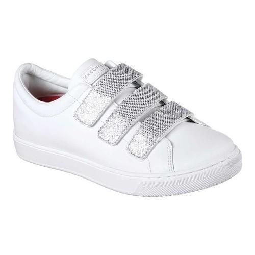 c0a43a77c846 Shop Women s Skechers Prima Glitter Box Sneaker White Silver - Free  Shipping Today - Overstock - 18094241