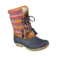 Women's Skechers Hampshire Nordic Daze Mid Calf Duck Boot Navy/Red