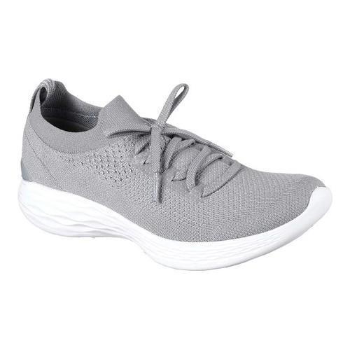 Shop Women s Skechers YOU Shine Slip-On Sneaker Gray - Free Shipping Today  - Overstock - 18102709 52282e1f58c5