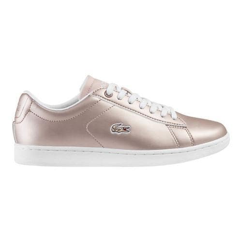 2aea6950d910 Shop Women's Lacoste Carnaby EVO 117 3 Sneaker Light Pink Synthetic Leather  - Free Shipping On Orders Over $45 - Overstock - 18109406