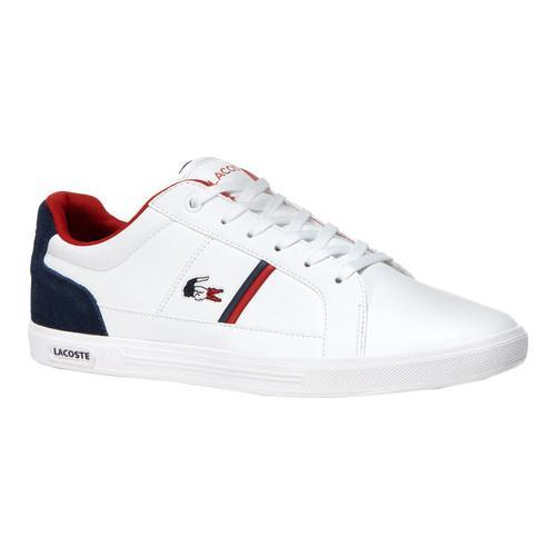 Men's Lacoste Europa 1 Leather Sneaker White/Navy Leather