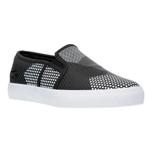 8dbe1417c Shop Women s Lacoste Gazon Leather Slip-On Black White Leather ...