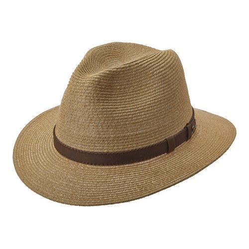 07b6c67f0c5 Shop Men s Tommy Bahama TBW222OS Fine Braid Safari Hat Tea - Free Shipping  Today - Overstock - 18109538