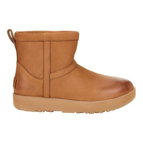 611199654ee Shop Women's UGG Classic Mini Waterproof Bootie Chestnut Leather - Free  Shipping Today - Overstock.com - 18109551