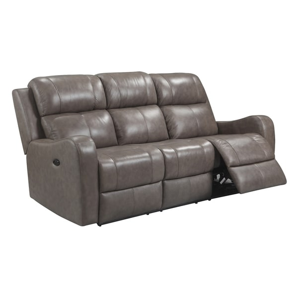 Leather Sofas Reviews: Shop Humphrey Power Reclining Top Grain Leather Sofa