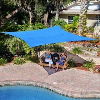 Coolaroo Coolhaven 12' square Sail Sapphire with Hardware