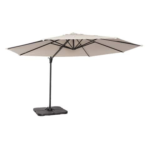 Coolaroo 12' Cantilever Umbrella Smoke