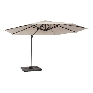 Coolaroo 12' Cantilever Umbrella Smoke