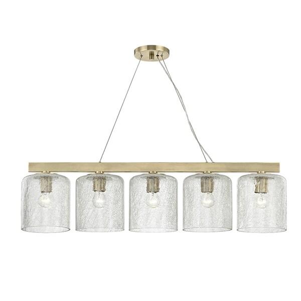 Hudson Valley Charles 5-light Aged Brass Island Light